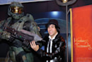 Master Chief fully waxed with Fall Out Boy at Madame Tussauds Vegas