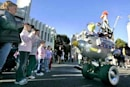 Disneyland intros roving animatronic Muppets; Mickey and friends fear pink slips