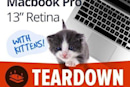 """iFixit tears down the 13"""" Retina MacBook Pro (with kittens!)"""