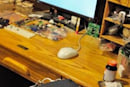MacBook inhabits a Linksys router after ill-advised casemod