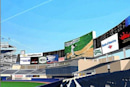 Yankee Stadium -- and its enormous HD screen -- opens to the fans Thursday