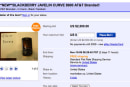 AT&T BlackBerry Curve 8900 on eBay, not cheap