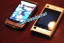 Motorola Devour spotted in the wild, sized up against a Nexus One