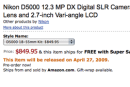 Nikon's D5000 DSLR (and its articulating display) shipping April 27th