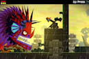 Guacamelee piledriving onto Steam