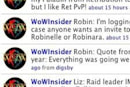WoW Insider Twitter returns with updates from the whole team