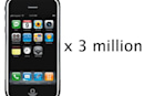 Apple readying three million iPhones for launch?