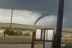 Possible Tornado Reported Near Greenfield, Oklahoma