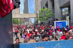 Crowd Scatters After Gunshots Heard at Raptors Victory Parade
