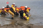 Lifeboat Rescues Pair Who Got Stuck in Mud With Tide Rising