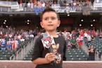 Adorable 5-Year-Old Sings National Anthem Before Texas Baseball Game