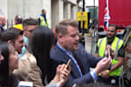 James Cordon greets fans during his run of UK shows