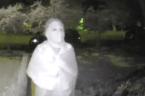 Suspect in Horror Movie Mask Caught on Camera Outside New Orleans Home