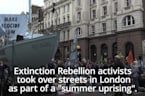 Extinction Rebellion activists hold protests across the UK
