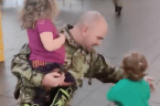 Little Boy Has Priceless Reaction to Dad's Military Homecoming