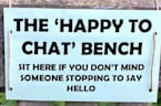 English Police Department Installs 'Chat' Benches To Tackle Loneliness