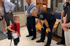 Son of Fallen Slidell Officer Receives Warm Welcome From Police on First Day of Kindergarten