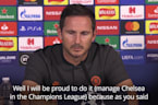 Frank Lampard 'proud' to manage Chelsea in Champions League
