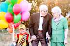 Adorable 5-year-old boy poses in the cutest 'Up' themed photoshoot ever