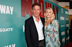 Dennis Quaid and Laura Savoie flash engagement ring on the red carpet