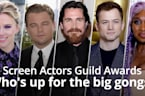 Screen Actors Guild Awards: Who's up for the big gongs?