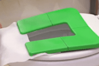 Portable, foldable seat protects you from germs lurking in public toilets
