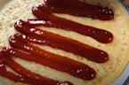 Someone put ketchup on a pancake and we are unwell