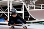 This three-year-old has some impressive skateboarding skills