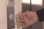 Hygienic keychain touches germy surfaces for you
