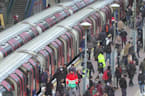 London Underground busy despite lockdown