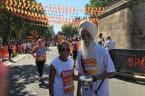 Skipping Sikh Wife Hoola Hoop