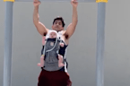 This 6-month-old baby doing pull-ups with her dad is the cutest thing