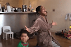 Family in quarantine shares hilarious video of living room chaos