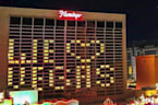 Las Vegas strip lights up its casinos and resorts with messages of encouragement