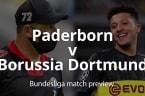 Bundesliga match preview: Paderborn V Borussia Dortmund
