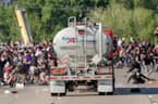 Tanker truck plows into Minneapolis protesters