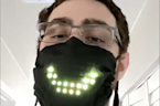 This voice-activated LED face mask responds to your speech and smile