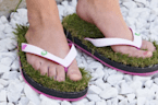 Grass flip-flops are perfect for nature lovers and tree huggers
