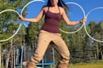Actress Marika Sila has mad hula hooping skills