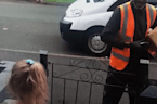 8-year-old surprises deaf postman with touching gesture