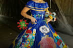 Teen makes spectacular COVID-19 prom dress from duct tape