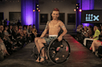 Disabled trans model Julian Gavino confronts fear with fashion