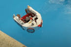 Arts and crafts vlogger creates miniature boat out of recycled material