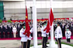 Hong Kong marks China's National Day with flag raising
