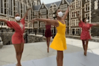 Harlem ballet dancers gracefully dance through iconic NYC neighborhood