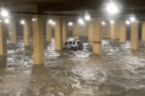 Storm floods Mississippi casino's underground parking garage