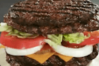 'Extreme' burger replaces buns with more meat at Japanese Burger King