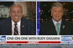 Hannity tells Giuliani he felt bad for him when 'Just For Men' ran down his cheek at press conference
