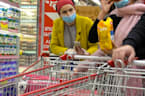 Outrageous grocery store prank catches shoppers off guard