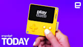 This portable game console has a black-and-white screen and a crank   Engadget Today